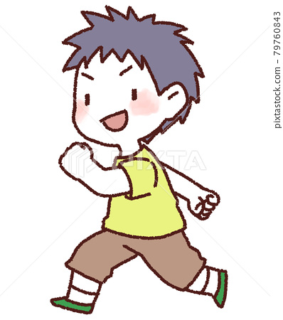 The child is running well 79760843