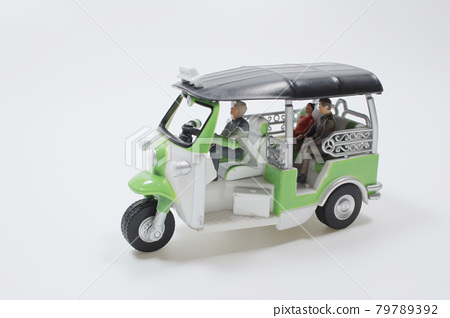 a scale of Thailand three wheel native taxi, Thailand Tuk Tuk 79789392