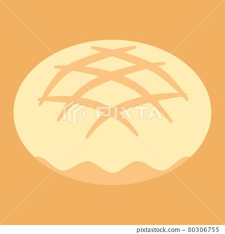 Simple and cute melon bread illustration flat design 80306755