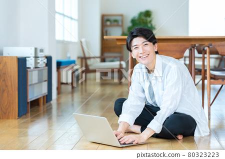 male, man, computer 80323223