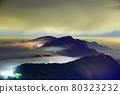 雲霧虛無飄渺游走間,籠罩在山的上空。城鎮的街燈像是琉璃光一般,又美麗又夢幻。 80323232
