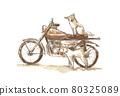 自行車和狗 80325089