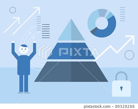 vector, business, graph 80328288