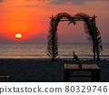 sunset, dusk, beach 80329746