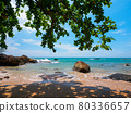 View the sea from the shade of a tropical beach (Khaorak, Phang Nga Province, Kingdom of Thailand) 80336657