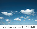 Many white clouds against the blue sky, gentle blue sky with snow-white clouds. 80400603