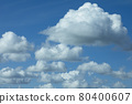 Many white clouds against the blue sky, gentle blue sky with snow-white clouds. 80400607