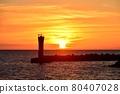 Evening sun on the Echizen coast 80407028