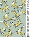 동물, 일러스트, 무늬 80483655