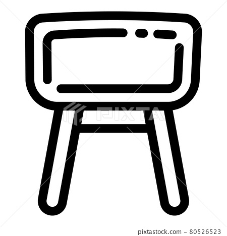Gymnastics leather horse icon, outline style 80526523