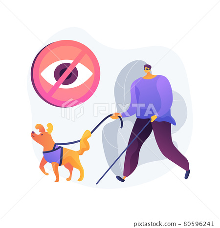 Blindness and vision loss abstract concept vector illustration. 80596241