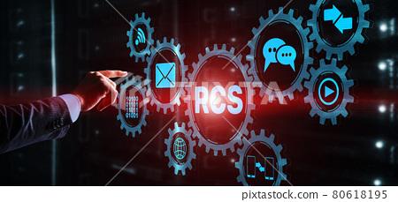 Rich Communication Services. Communication Protocol. RCS. Technology concept 80618195