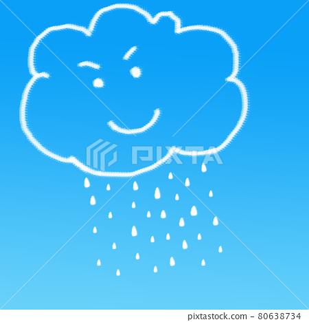 Rain cloud on blue background 80638734