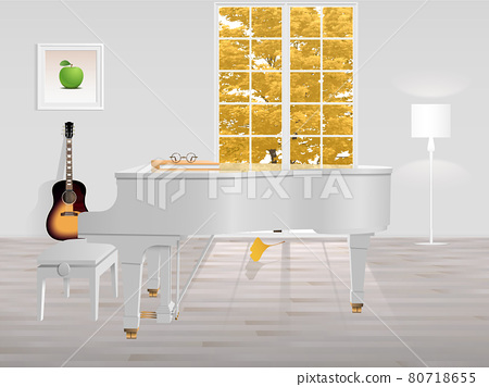 Room with piano 80718655