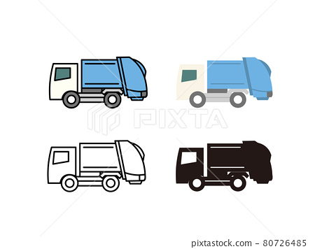 Packer car garbage truck icon material 80726485