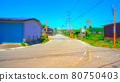 Country roads and railroad crossings Anime-style processing 80750403