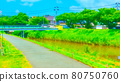 Riverside promenade animation style processing 80750760