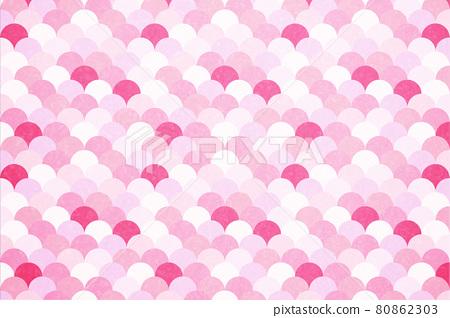 반짝 반짝 물결 무늬 질감 _ 핑크 비늘 패턴 배경 80862303