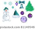 set of christmas 81140546