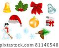 set of christmas decoration 81140548