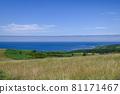 藍天蔓延的大豆山,夏天的北海道 81171467