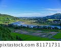 夏季新潟的信濃川 81171731