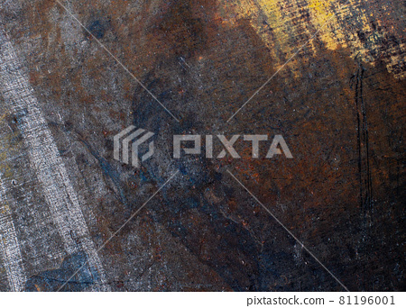 Old hot rolled metal close-up flat textured background 81196001