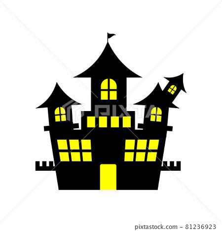 Castle silhouette 81236923