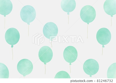 Watercolor balloon background 81246732