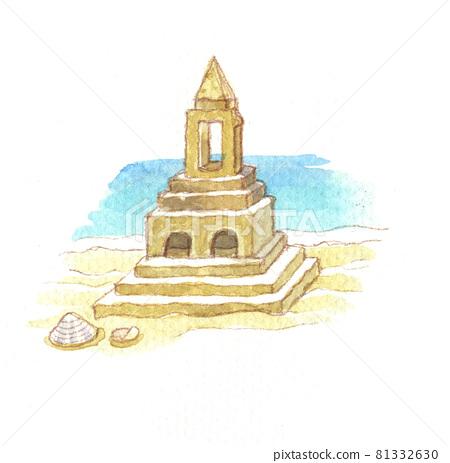 수채화 : 모래성 81332630