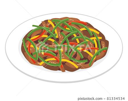 中國食物青椒肉 81334534