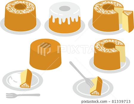 chiffon cake, cake, cakes 81339713