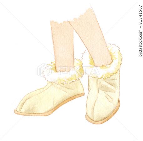 shoe, shoes, watercolour 81541567