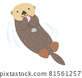 Sea otter with diet 81561257