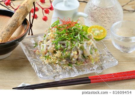 horse mackerel, sashimi, seared 81609454