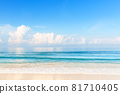 Blue sky and beautiful beach in Punta Cana, Dominican Republic. 81710405
