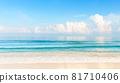 Blue sky and beautiful beach in Punta Cana, Dominican Republic. 81710406