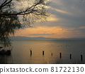 lake biwa, lake, evening scene 81722130