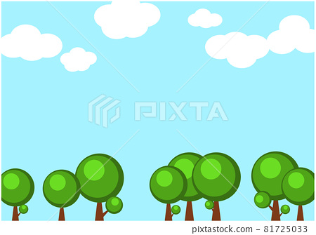 天空和樹木背景材料 81725033
