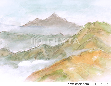 From the mountain snake escape pass in Japan [Autumn leaves] Climbing in October 81793623