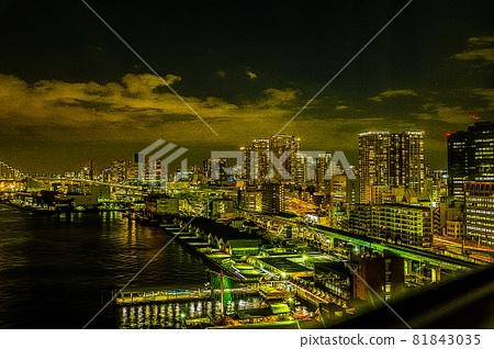 Tokyo Bay city night view 81843035