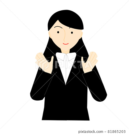 A well-dressed long-haired woman 81865203