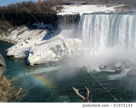 Niagara Falls and Rainbow 81873134