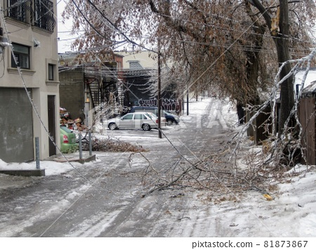 Damage from Canada Ice Storm 81873867