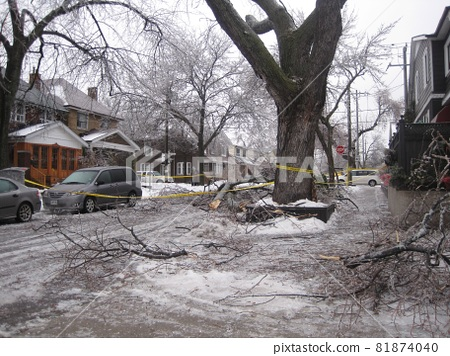 Damage from Canada Ice Storm 81874040