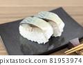 Delicious mackerel sushi 81953974