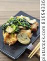Delicious garlic butter chicken with mushroom spinach 81954336