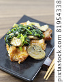 Delicious garlic butter chicken with mushroom spinach 81954338