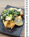 Delicious garlic butter chicken with mushroom spinach 81954343
