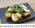 Delicious garlic butter chicken with mushroom spinach 81954348